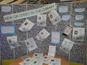 QR Code Display at Moreton Morrell Library