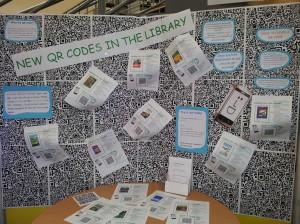 QR Code Display at Moreton Morrell Library
