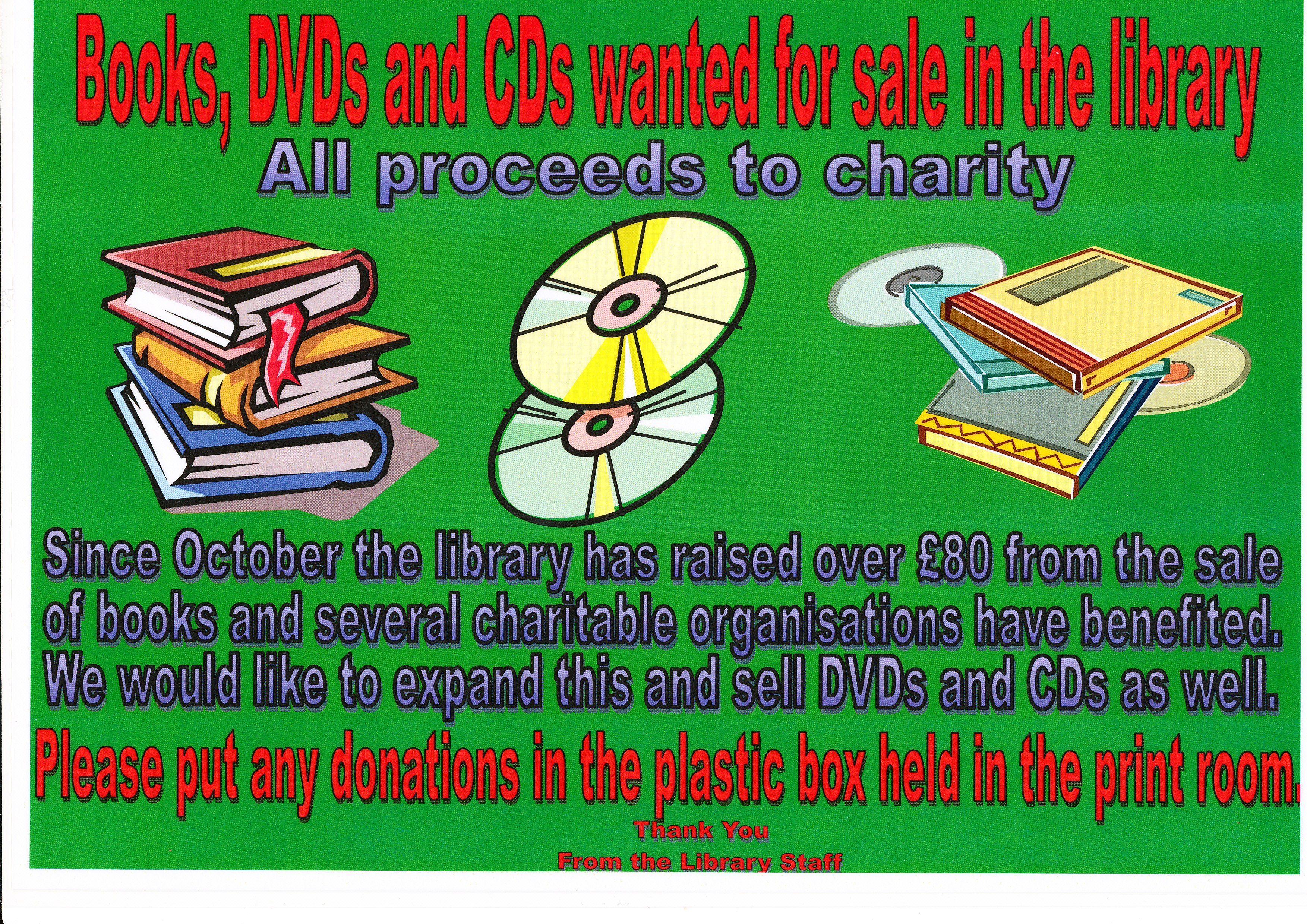 Books, DVDs and CDs wanted at Pershore  | Welcome to